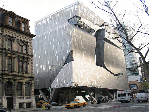 The New Cooper Union Building By Architect Thom Mayne Is That A Distortion In Photo Or To Left Shrinking Back Image Source