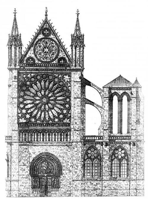The North Transept Of Cathedral Basilica St Denis From Mapping Gothic France
